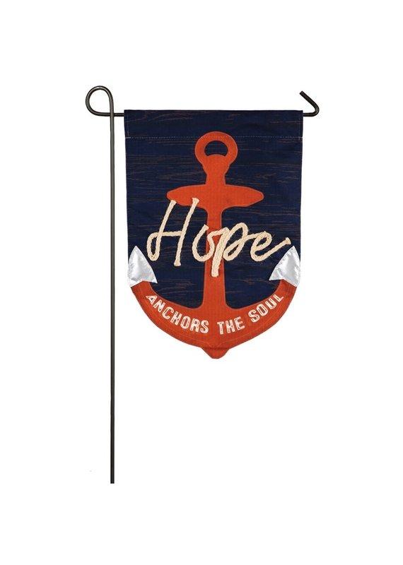 *****Hope Anchors the Soul Garden Linen Flag