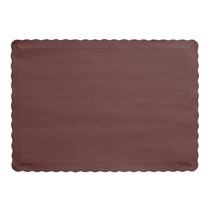 ***Chocolate Brown Paper Placemats 50ct