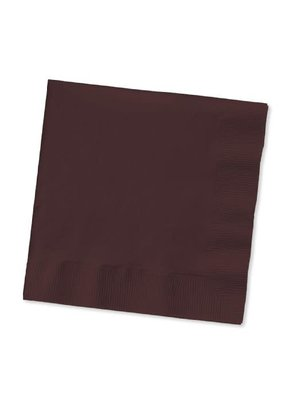 ***Chocolate Brown 3ply Lunch Napkins 50ct