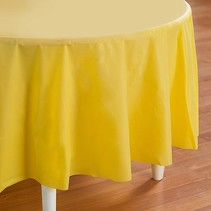 "***Mimosa 82"" Octy Round Plastic Tablecover"