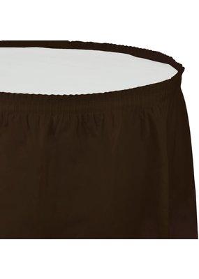 ***Chocolate Brown 14' Plastic Table Skirt