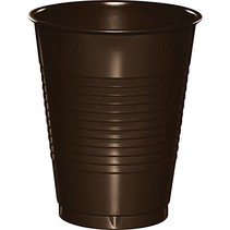 ***Chocolate Brown 16oz Plastic Cups 20ct