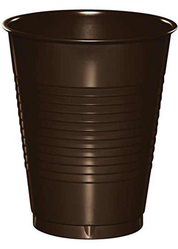 ****Chocolate Brown 16oz Plastic Cups 20ct