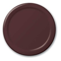 "***Chocolate Brown 7"" Round Paper Plates 24ct"