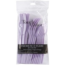 ***Luscious Lavender Assorted Cutlery 24ct
