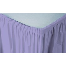 ***Luscious Lavender 14ft Plastic Table Skirt