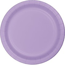 "***Luscious Lavender 7"" Paper Dessert Plates 24ct"