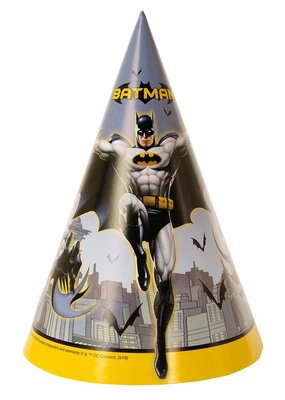 ***Batman Party Hats 8ct