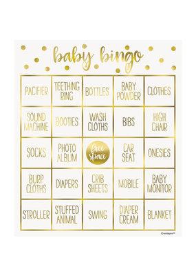 ***Gold Baby Shower Bingo Kit for 8