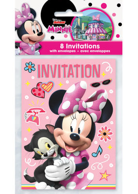 ***Iconic Minnie Mouse Invitations 8ct