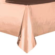 *Rose Gold Foil Rectangular Plastic Table Cover
