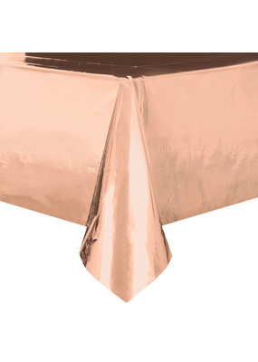****Rose Gold Foil Rectangular Plastic Tablec,over