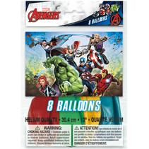 "***Avengers 12"" Latex Balloons, 8ct"