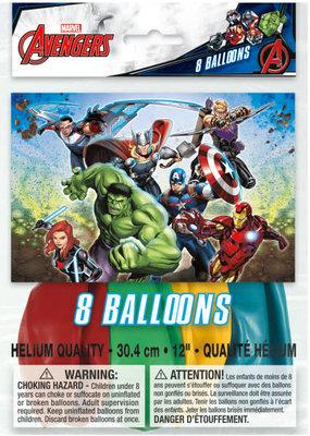 "***Avengers 12"" Latex Balloons 8ct"