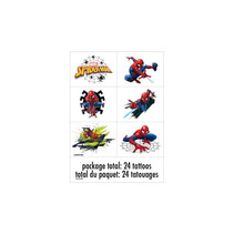 *Spider-Man Color Tattoo Sheets, 4ct