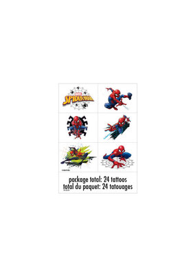 ****Spider-Man Color Tattoo Sheets, 4ct