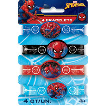***Spider-Man Stretchy Bracelets, 4ct