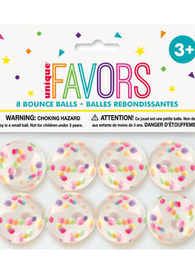 ***Confetti Filled Bounce Ball Favors, 8ct