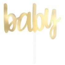 "*Gold Foil ""Baby"" Baby Shower Cake Topper"