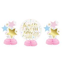 *Foil Twinkle Twinkle Little Star Mini Honeycomb Centerpieces, 3ct