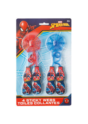 ****Spider-Man Web Sticky Stretch Favors, 4ct