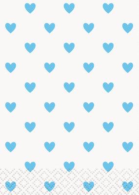 *Blue Hearts Baby Shower Beverage Napkins, 16ct