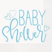 *Blue Hearts Baby Shower Luncheon Napkins, 16ct