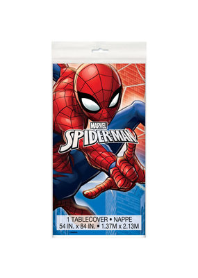 "***Spiderman Rectangular Plastic Table Cover, 54""x84"""
