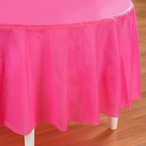 "***Candy Pink 82"" Octy Round Tablecover"