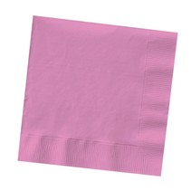 ***Candy Pink 3ply Beverage Napkin 50ct