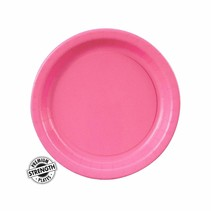 "***Candy Pink 7"" Paper Dessert Plate 24ct"