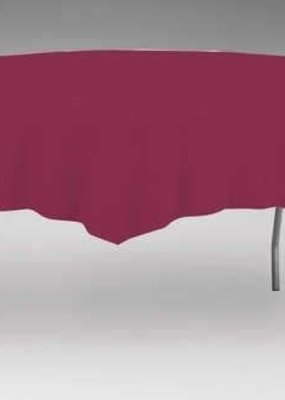 "***Burgundy 82"" Octy Round Tablecover"