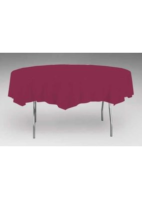 """***Burgundy 82"""" Octy Round Tablecover"""