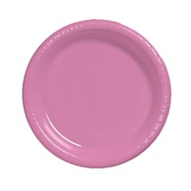 "***Candy Pink 7"" Plastic Dessert Plate 20ct"