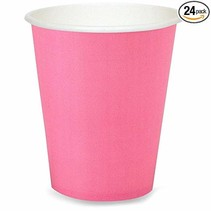 ***Candy Pink 9oz Hot Cold Cups 24ct