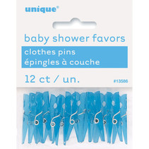 *Baby Blue Clothespin Favors, 12ct