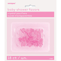 """*Pink Crystal Pacifier Favors 1"""", 18ct"""