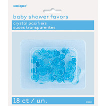 "*Blue Crystal Pacifier Favors 1"", 18ct"
