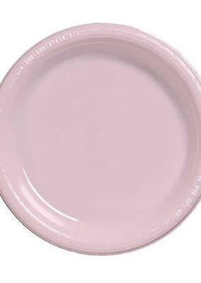 "***Classic Pink 7"" Plastic Dessert Plates 20ct"