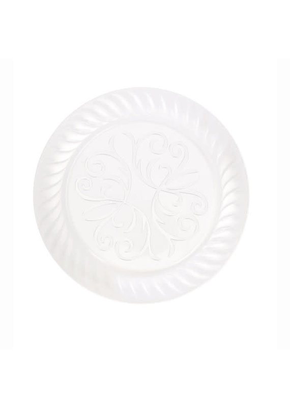"""****Clear 9"""" Plastic Fluted Plate, 10ct"""