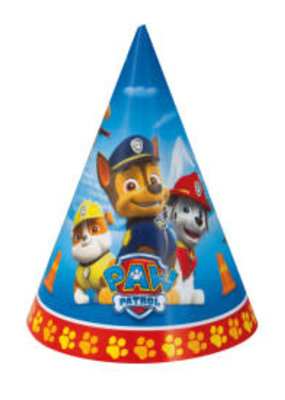 ***Paw Patrol Party Hats, 8ct