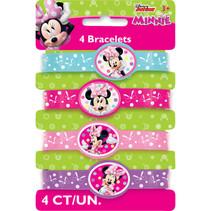 ***Disney Minnie Bowtique Stretchy Bracelets, 4ct