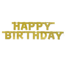 *Happy Birthday Gold Banner