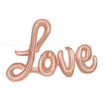 """***Rose Gold Love Foil Letter Balloon Banner Kit, 36"""""""