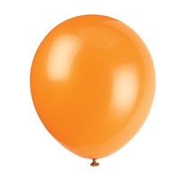 "***12"" Latex Balloons, 10ct - Pumpkin Orange"