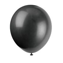 "*12"" Latex Balloons, 10ct - Jet Black"