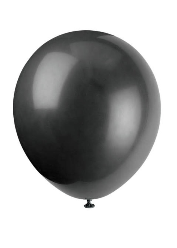 "****12"" Latex Balloons, 10ct - Jet Black"