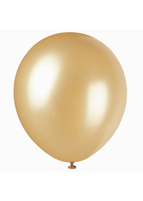 "***12"" Latex Balloons, 8ct - Gold"