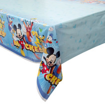 "***Disney Mickey Roadster Rectangular Plastic Table Cover, 54""x84"""