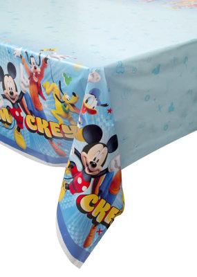 "***Disney Mickey Roadster Rectangular Plastic Table Cover, 54""x84"""